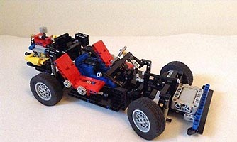 Набор LEGO MOC-7300 LEGO 8860 Studless retro car chassis.  Free instructions