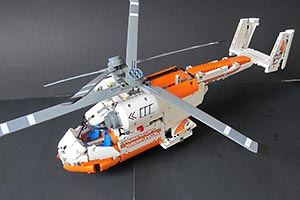 Набор LEGO MOC-7342 42052 C model: Twin Spin Helicopter!