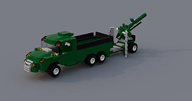 Набор LEGO MOC-7495 Army Transport Truck