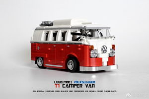 Набор LEGO MOC-8059 RC/PF VW T1 Camper Van(VW T1 BUS) 10 wide