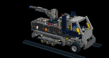 Набор LEGO MOC-8131 42055 C model-harftrack vehicle with rubber band gun