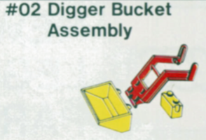 Набор LEGO 2-5 Digger Bucket Assembly