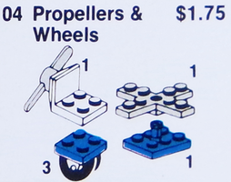 Набор LEGO 4 Propellers and Wheels