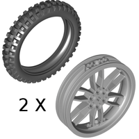 Набор LEGO 5003107 Large Tires with Hubs