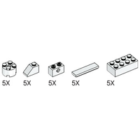 Набор LEGO 5003185 Simple and Motorized Mechanisms White Elements Pack