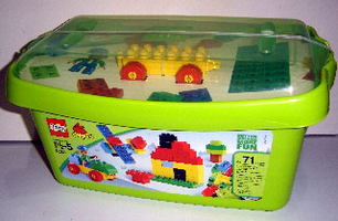 Набор LEGO 5380-2 Large Brick Box - Green Plate Version