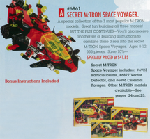 Набор LEGO 6861-3 Secret M:Tron Space Voyager