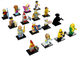 Набор LEGO 71018-18 LEGO Minifigures Series 17 - All Parts