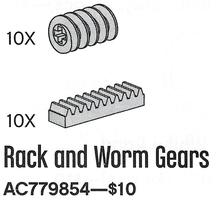Набор LEGO 779854 Rack and Worm Gears