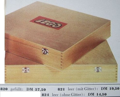 Набор LEGO 824 Wooden Storage Box Large (Double Latch), Empty, without Lattice