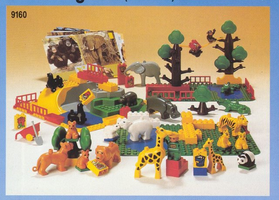 Набор LEGO 9160 Duplo Safari Park - 92 elements, 6 act. cards