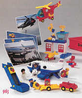 Набор LEGO 9163 Duplo Airport - 47 el. 4 act. cards (3 aircraft)