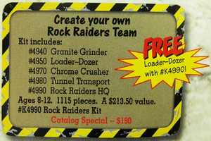 Набор LEGO K4990 Rock Raiders Kit
