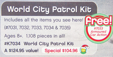 Набор LEGO K7034 World City Patrol Kit