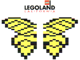 Набор LEGO LLCA32-4 Butterfly - Yellow Wings with Black Stripes (LLCA Ambassador Pass Exclusive)