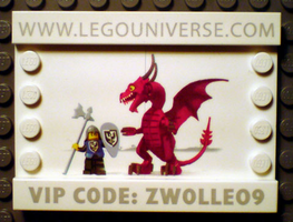 Набор LEGO lup03 Lego Universe Promo 2009 Zwolle - Dragon and Knight